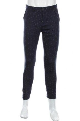 Pantaloni de bărbați Sisley, Mărime M, Culoare Albastru, 54% poliester, 44% lână, 2% elastan, Preț 367,60 Lei
