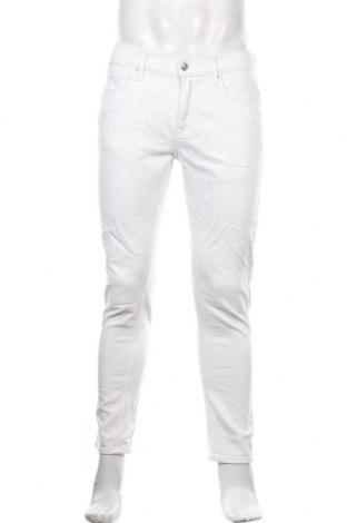 Мъжки панталон Topman, Размер S, Цвят Бял, 98% памук, 2% еластан, Цена 35,70лв.