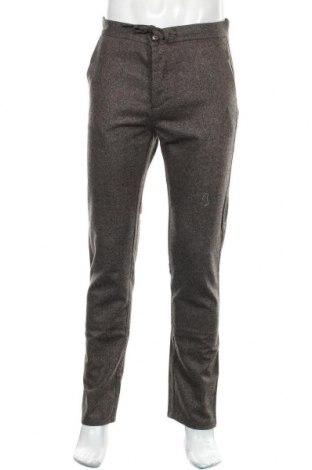 Pantaloni de bărbați United Colors Of Benetton, Mărime M, Culoare Maro, 60% lână, 35% poliester, 5% poliamidă, Preț 293,59 Lei