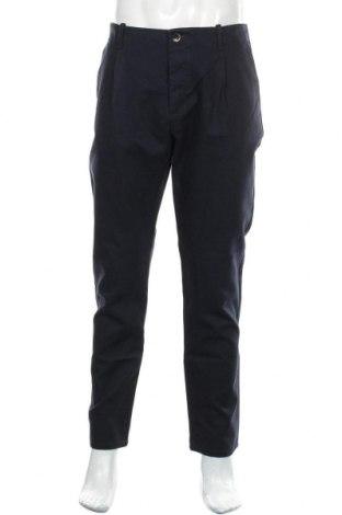Pantaloni de bărbați Sisley, Mărime L, Culoare Albastru, 83% bumbac, 17% poliester, Preț 293,59 Lei