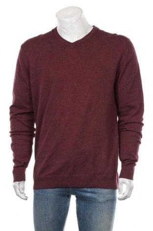 Męski sweter Esprit, Rozmiar M, Kolor Czerwony, Bawełna, kaszmir, Cena 81,00zł