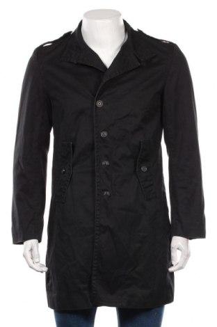Мъжки шлифер Zara Man, Размер M, Цвят Черен, Памук, Цена 46,80лв.