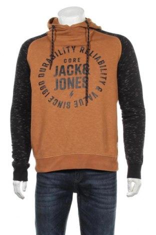 Мъжки суичър Core By Jack & Jones, Размер L, Цвят Кафяв, Памук, Цена 28,50лв.
