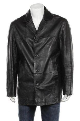 Ανδρικό δερμάτινο μπουφάν Gipsy, Μέγεθος XXL, Χρώμα Μαύρο, Γνήσιο δέρμα, Τιμή 92,16€