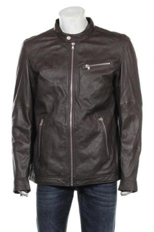 Мъжко кожено яке Lindbergh, Размер XL, Цвят Кафяв, Естествена кожа, Цена 299,25лв.