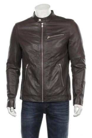 Мъжко кожено яке Lindbergh, Размер L, Цвят Кафяв, Естествена кожа, Цена 291,27лв.