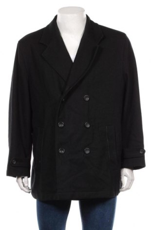 Palton de bărbați, Mărime XL, Culoare Negru, 60% lână, 0% poliester, 10% viscoză, Preț 222,16 Lei