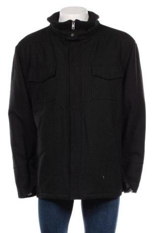 Palton de bărbați Angelo Litrico, Mărime L, Culoare Negru, 60% lână, 20% poliamidă, 20% viscoză, Preț 212,21 Lei