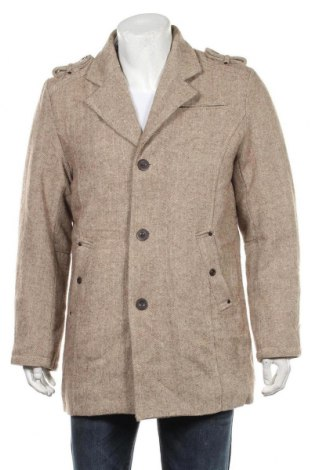 Palton de bărbați Brandit, Mărime M, Culoare Bej, 50% lână, 50% poliester, Preț 238,74 Lei