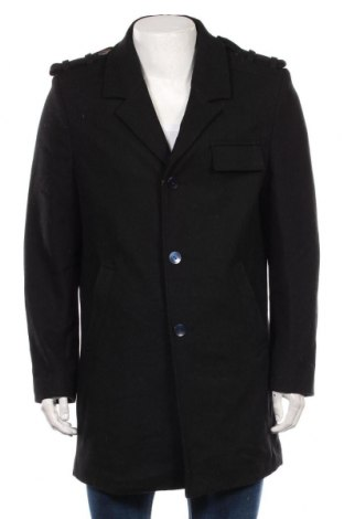 Palton de bărbați Clockhouse, Mărime M, Culoare Negru, 75% lână, 25% viscoză, Preț 202,26 Lei