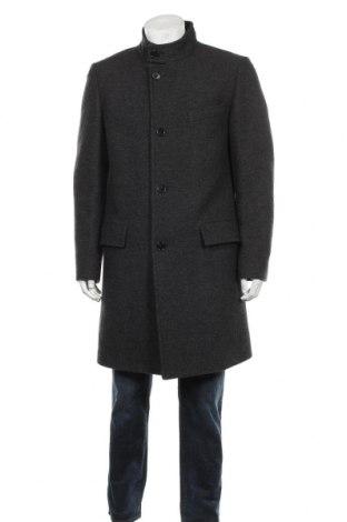 Мъжко палто Hugo Boss, Размер L, Цвят Сив, 80% вълна, 20% полиамид, Цена 199,50лв.