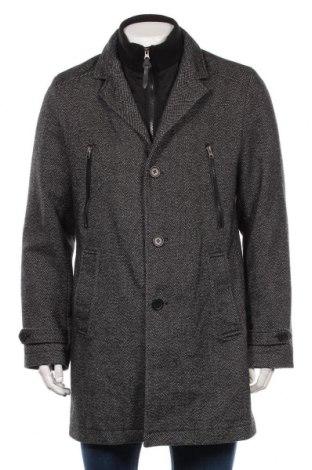 Palton de bărbați Jean Carriere, Mărime L, Culoare Negru, 50% lână, 50% poliester, Preț 228,79 Lei