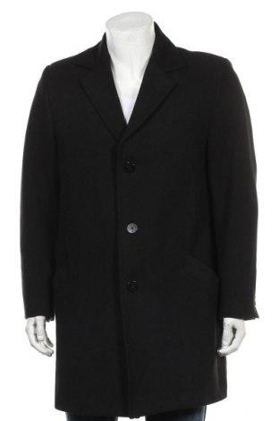 Мъжко палто Pringle Of Scotland, Размер L, Цвят Черен, 62% полиестер, 33% вискоза, 5% еластан, Цена 193,50лв.