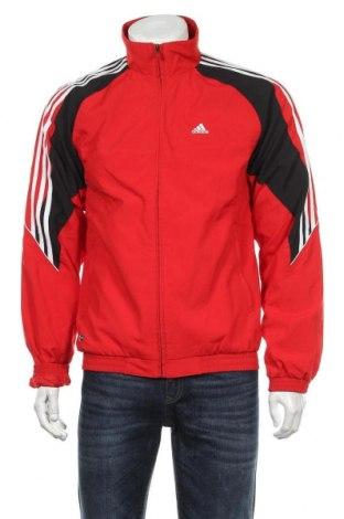 Мъжко спортно горнище Adidas, Размер S, Цвят Червен, Полиестер, Цена 31,50лв.