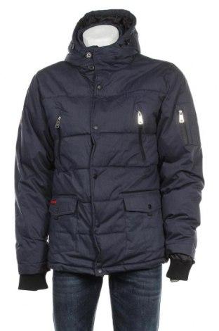 Мъжко яке Geographical Norway, Размер XL, Цвят Син, 65% полиестер, 35% памук, Цена 196,52лв.