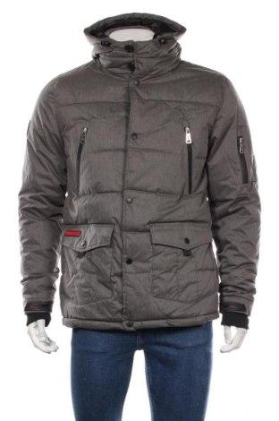 Мъжко яке Geographical Norway, Размер S, Цвят Сив, 65% полиестер, 35% памук, Цена 196,52лв.