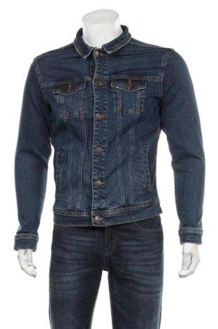 Мъжко яке Pull&Bear, Размер S, Цвят Син, 99% памук, 1% еластан, Цена 42,00лв.