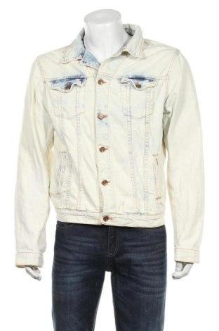 Мъжко яке Zara Man, Размер M, Цвят Син, 98% памук, 2% еластан, Цена 37,80лв.