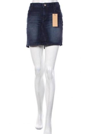 Φούστα S.Oliver, Μέγεθος XL, Χρώμα Μπλέ, 77% βισκόζη, 19% βαμβάκι, 3% πολυεστέρας, 1% ελαστάνη, Τιμή 42,68€