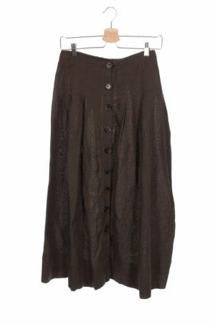 Sukně Zara, Velikost XS, Barva Zelená, 60% viskóza, 40% len, Cena  443,00Kč