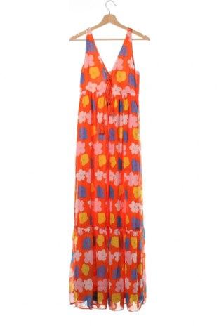 Рокля Andy Warhol By Pepe Jeans, Размер XXS, Цвят Оранжев, Полиестер, Цена 134,25лв.
