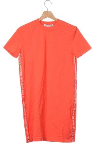Φόρεμα Calvin Klein Jeans, Μέγεθος XS, Χρώμα Πορτοκαλί, Βαμβάκι, Τιμή 65,33€