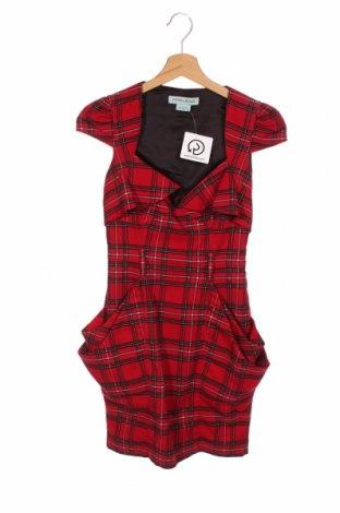 Rochie Guess By Marciano, Mărime XS, Culoare Roșu, 65% poliester, 33% viscoză, 2% elastan, Preț 157,90 Lei