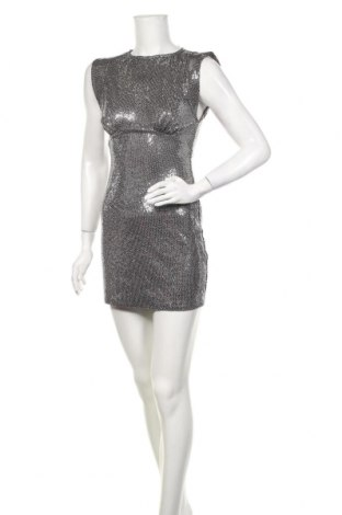 Šaty  Zara, Velikost S, Barva Stříbrná, 53% polyamide, 40% polyester, 4% kovové nitě, 3% elastan, Cena  706,00Kč