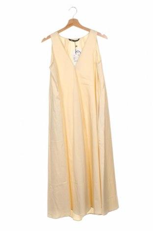 Sukienka Zara, Rozmiar XS, Kolor Beżowy, Bawełna, Cena 132,75zł