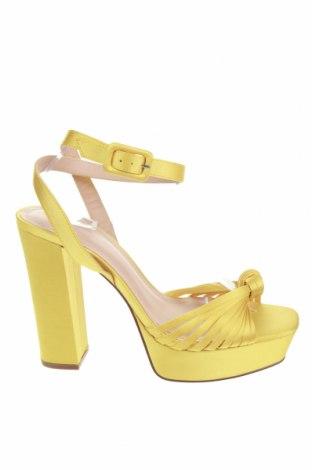Сандали H&M, Размер 40, Цвят Жълт, Текстил, Цена 59,25лв.