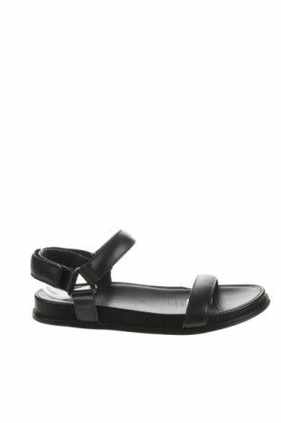 Сандали Massimo Dutti, Размер 39, Цвят Черен, Естествена кожа, Цена 54,00лв.