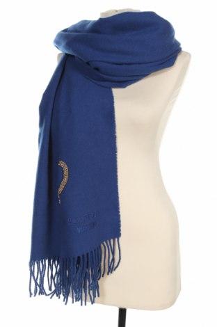Eșarfă Boutique Moschino, Culoare Albastru, Preț 315,79 Lei