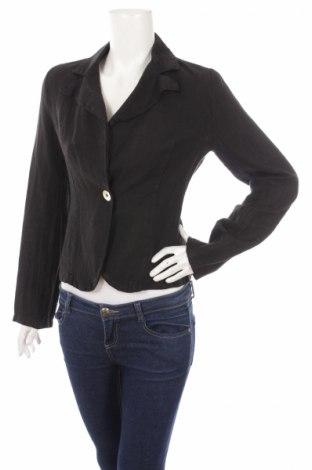 Дамско сако Giorgia & Johns, Размер S, Цвят Черен, Лен, Цена 13,25лв.
