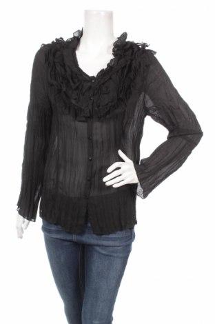 Дамска риза Mark Adam, Размер M, Цвят Черен, Полиестер, Цена 10,00лв.