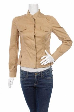 Дамско яке Zara, Размер M, Цвят Кафяв, 97% памук, 3% еластан, Цена 13,20лв.
