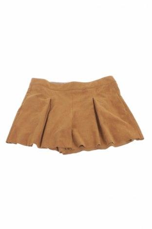 Детска пола Zara Kids, Размер 13-14y/ 164-168 см, Цвят Кафяв, 87% полиестер, 13% еластан, Цена 9,60лв.