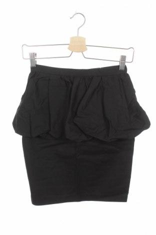 Пола Bardot, Размер XXS, Цвят Черен, 66% памук, 30% полиамид, 4% еластан, Цена 8,28лв.