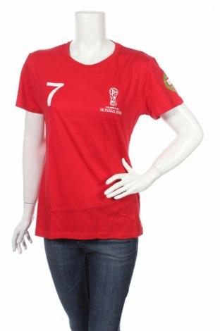 Дамска тениска Sol`s, Размер XL, Цвят Червен, Памук, Цена 16,32лв.