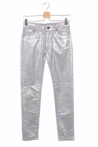 Детски дънки Silvian Heach, Размер 15-18y/ 170-176 см, Цвят Сребрист, 98% памук, 2% еластан, Цена 23,40лв.
