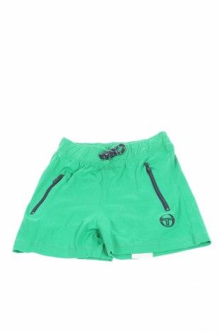 Детски къс панталон Sergio Tacchini, Размер 4-5y/ 110-116 см, Цвят Зелен, Памук, Цена 15,20лв.