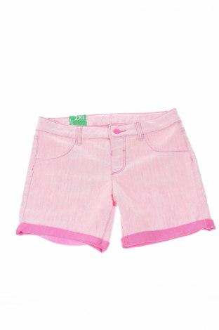 Pantaloni scurți de copii United Colors Of Benetton, Mărime 12-13y/ 158-164 cm, Culoare Roz, 70% bumbac, 28% poliester, 2% elastan, Preț 42,22 Lei