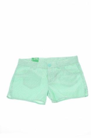 Детски къс панталон United Colors Of Benetton, Размер 12-13y/ 158-164 см, Цвят Зелен, Памук, Цена 13,30лв.