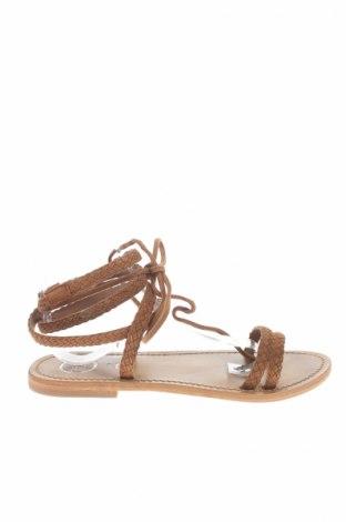 Sandály  Golden sun, Veľkosť 39, Farba Hnedá, Pravá koža , Cena  20,65€