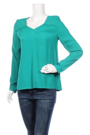 Дамска блуза Axara, Размер S, Цвят Зелен, Вискоза, Цена 44,50лв.