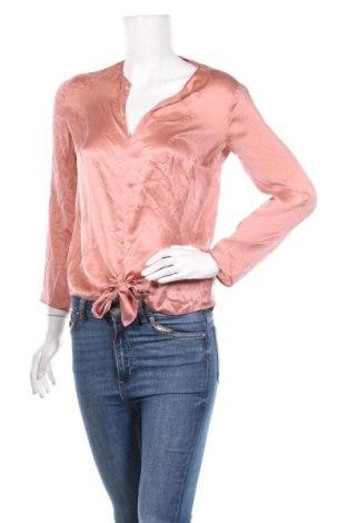 Дамска блуза Massimo Dutti, Размер M, Цвят Розов, Коприна, Цена 42,64лв.