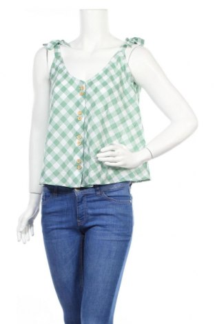 Дамска риза Mango, Размер L, Цвят Зелен, Памук, Цена 9,80лв.