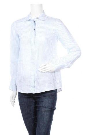 Дамска риза Massimo Dutti, Размер L, Цвят Син, 100% лен, Цена 12,40лв.
