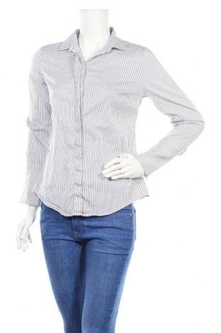 Дамска риза Massimo Dutti, Размер M, Цвят Син, 78% памук, 16% полиамид, 6% еластан, Цена 21,84лв.