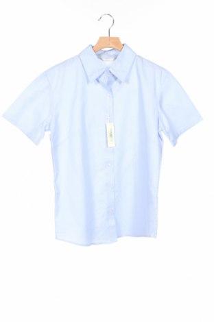 Дамска риза Russell Collection, Размер M, Цвят Син, 70% памук, 30% полиестер, Цена 8,00лв.
