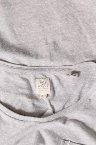 Дамска тениска Jack Wills, Размер M, Цвят Сив, 50% полиестер, 35% памук, 15% вискоза, Цена 22,62лв.